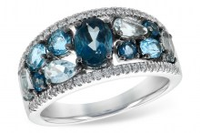 150-10134 Blue Topaz Diamond Ring Allison Kaufman