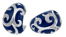 blue royal earrings